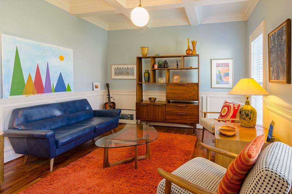 5 combinaciones de lámparas y muebles para un salón vintage 1