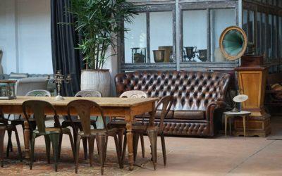 Mesas vintage para crear interiores con encanto